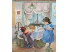 Картина маслом Детский день рождения копия Marchello