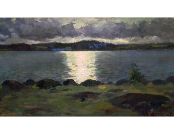 Картина маслом Пейзаж и закат, AM1188