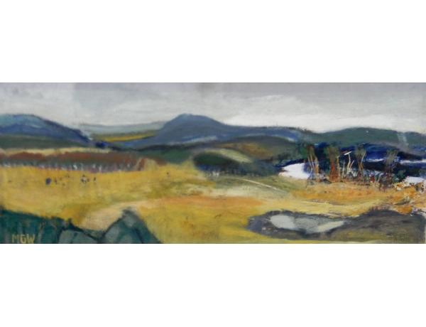 Картина маслом Пейзаж осенью MGW, AM1328