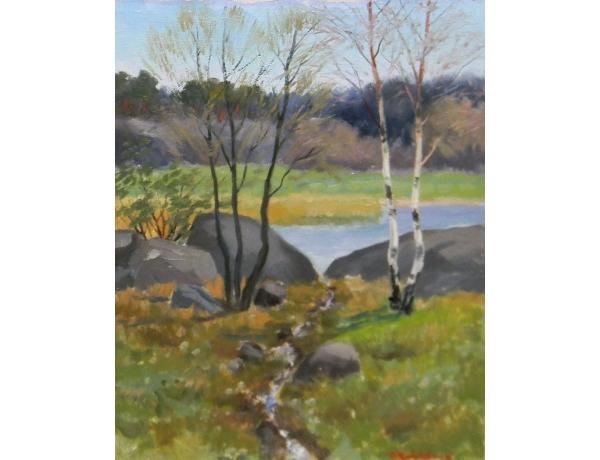 Картина маслом Пейзаж летом, AM1252