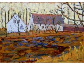 Картина Дома и поле