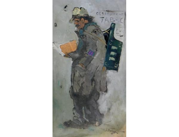 Картина Мужчина с газетой, AM0926