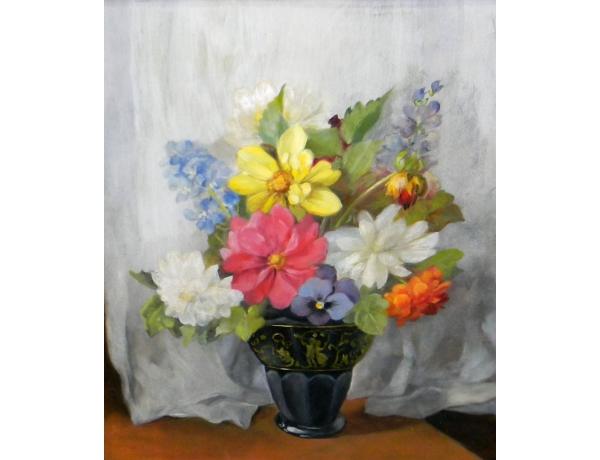 Õlimaal Must lillevaas, AM1323