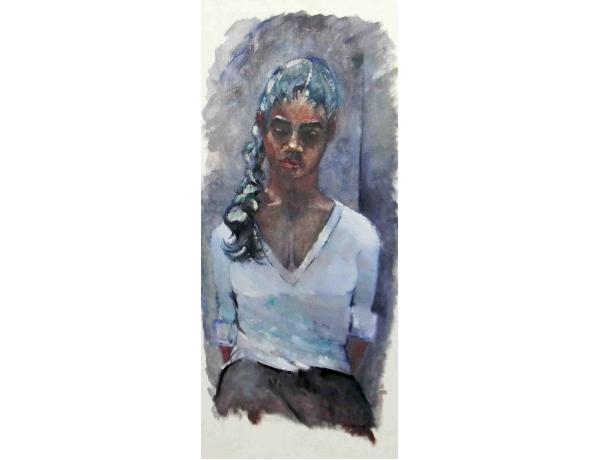 Картина маслом Тёмнокожая девушка Borgenhag 1964, AM1101