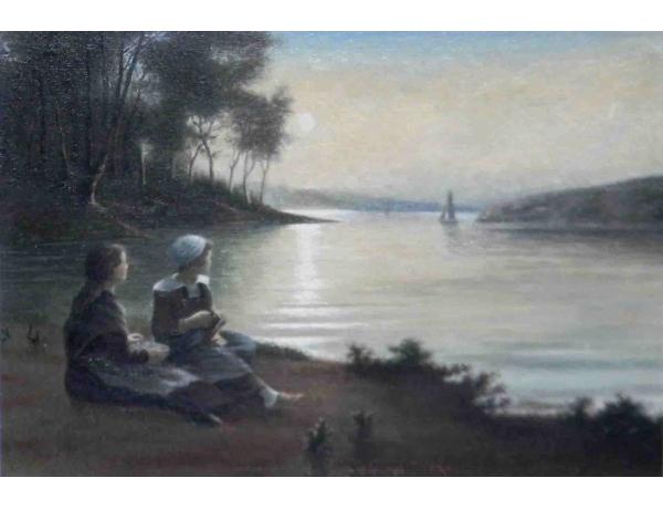 Õlimaal Naised järve kaldal Grenlund 1924, AM1094