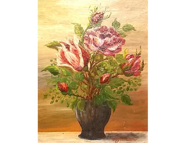 Картина маслом Натюрморт H Johanson, AM1408