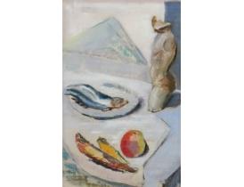 Картина маслом Натюрморт рыбный день