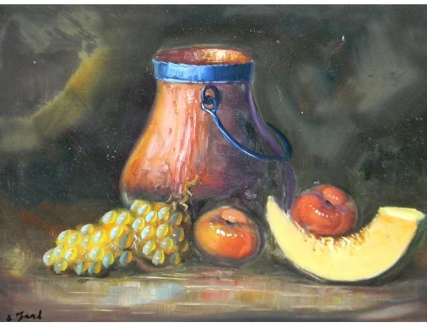 Картина маслом Натюрморт кувшин, AM1374