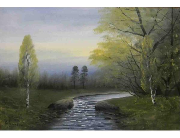 Картина Ручей в лесу, AM1058