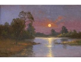 Õlimaal päikeseloojang ja jõgi
