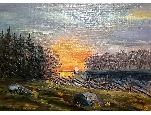 Õlimaal Päikesetõus maal, AM1424