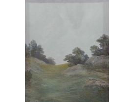 Картина Кустарник на склоне горы