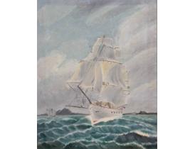 Картина Парусник в открытом океане