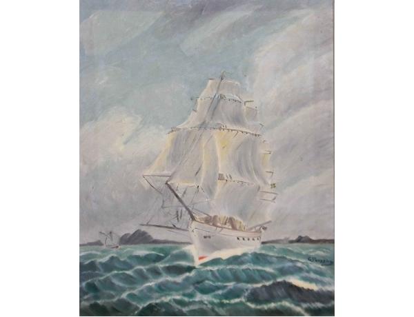 Картина Парусник в открытом океане, AM0594