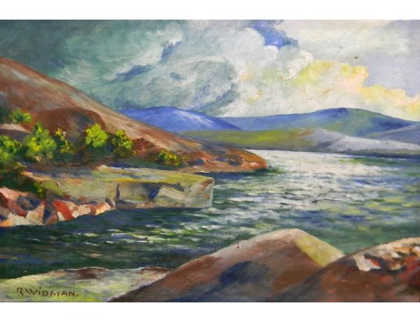Картина маслом На берегу R Widman, AM1413