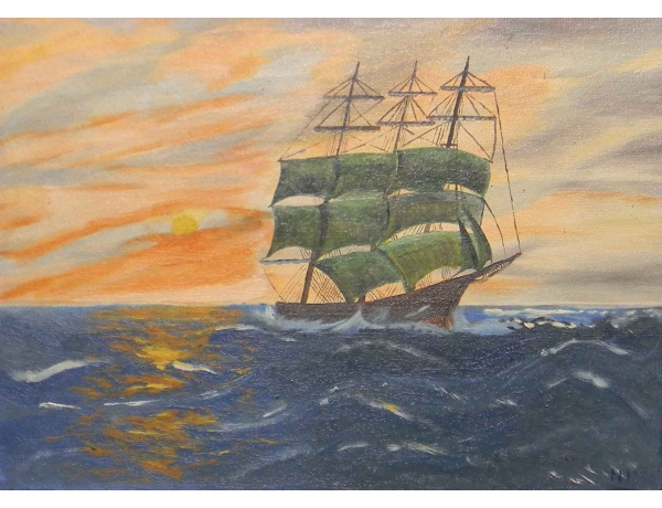 Õlimaal Roheline purjekas, AM0595