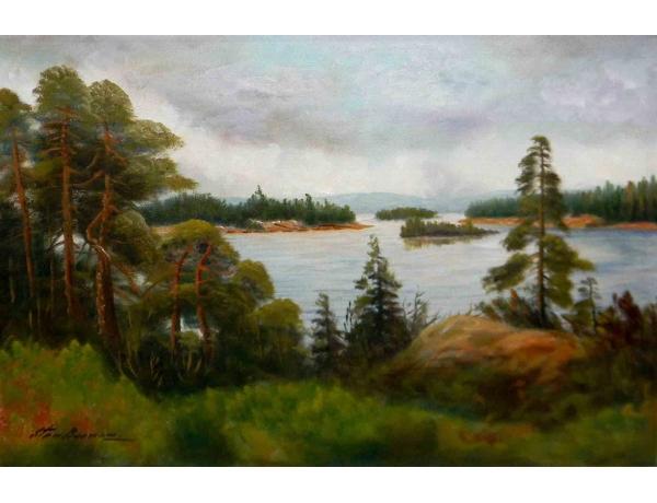 Картина маслом Шведская природа Sten Boman, AM1168