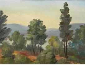 Картина Смешанный лес на горе