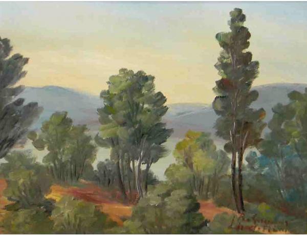 Картина Смешанный лес на горе, AM1084
