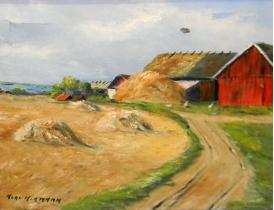 Картина маслом Летний хутор Hermann