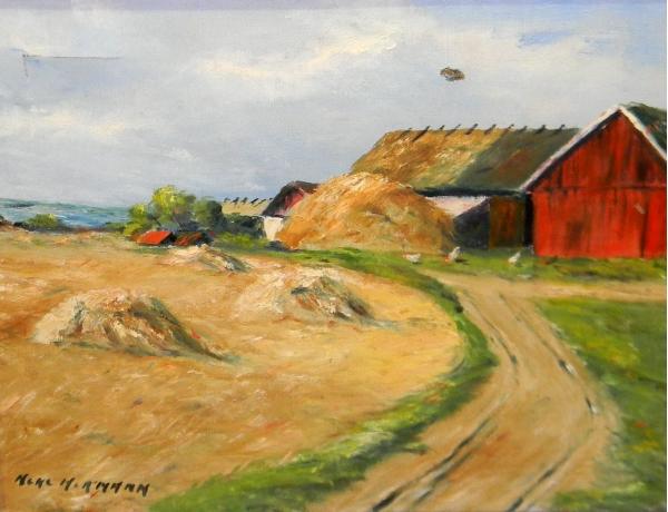 Картина маслом Летний хутор Hermann, AM1415