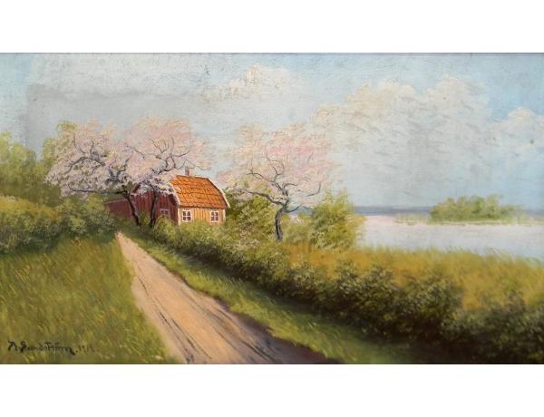 Õlimaal Talu kevadel Sandström 1912, AM1369
