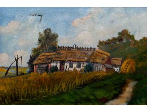 Картина маслом Хуторской дом A.B, AM1108