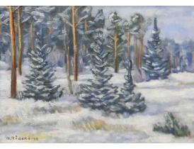 Картина Зима O.Raberg 1954