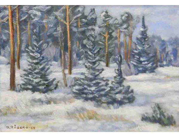 Картина Зима O.Raberg 1954, AM1053