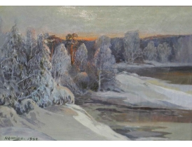 Картина Зимяя природа