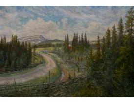 Картина маслом Дорога домой Erland Jonsson