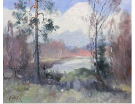 Картина Лесной пруд