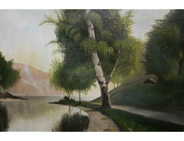 Õlimaal Üksik kask jõe kaldal, AM0762