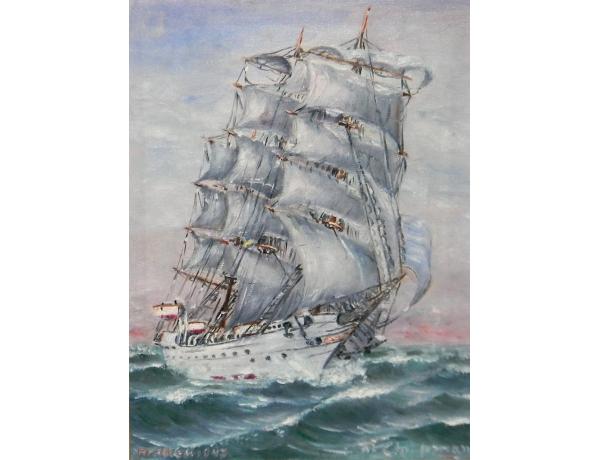 Õlimaal Valge purjekas ja ookean, AM1334