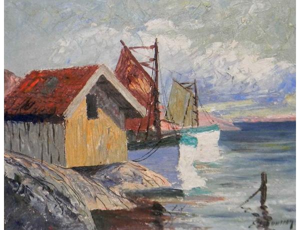 Картина Старый порт, AM0598
