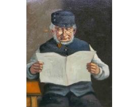 Картина Дедушка с газетой