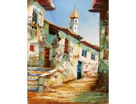 Картина маслом Улица старого города