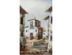 Картина маслом В старом городе