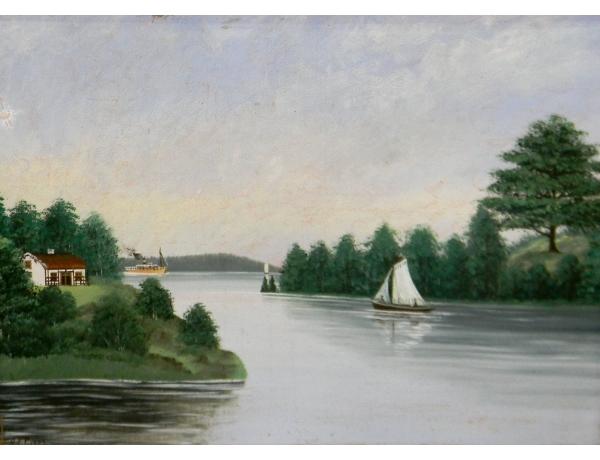Õlimal Purjekas jõel 1902 aasta, AM1387