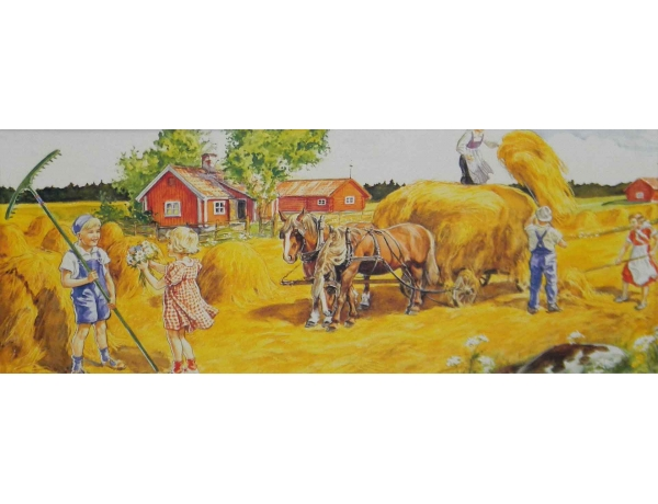 Õlitrükk Heina niitmine, AM0566