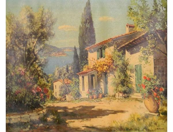Картина Романтичное поместье, AM0641