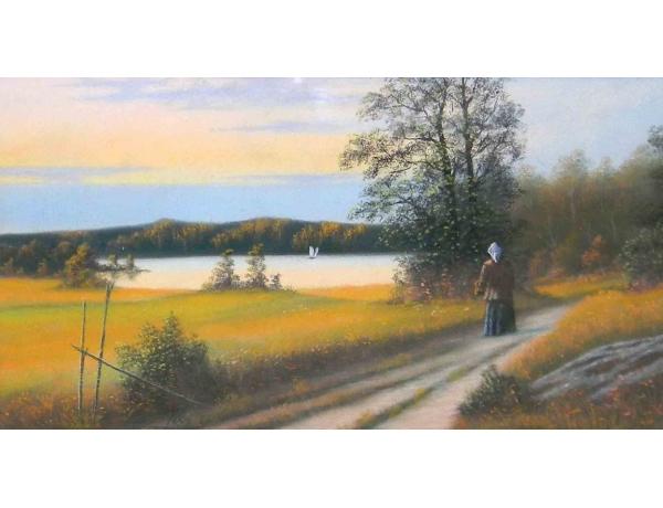 Картина пастелью Дорога домой, AM1192