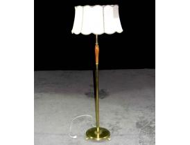 Põrandalamp heleda lambivarjuga