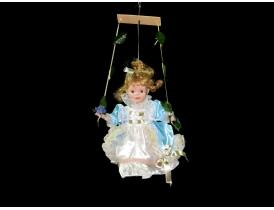 Фарфоровая кукла подвесная