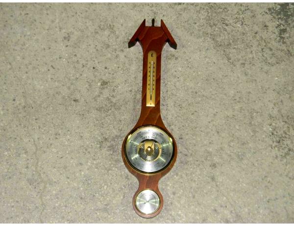 Деревянный барометр термометр, AM1129