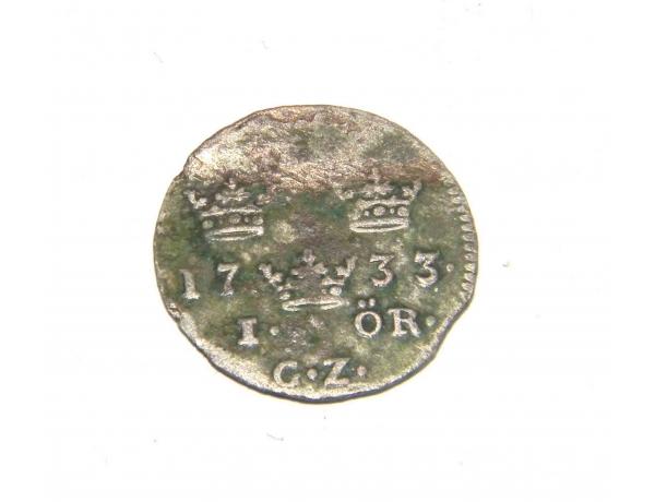 Hõbe Rootsi münt üks ÖRE 1733 aasta, AM1229
