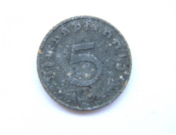 Пять немецких пфеннигов 1943 года, AM1311