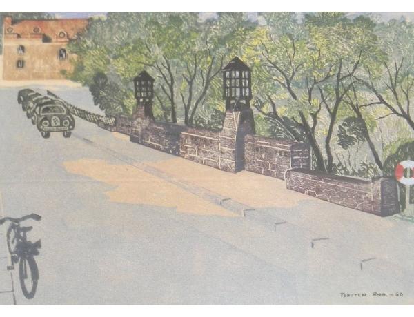 Настенная картина Улица Tosten Ano 1960, AM1353