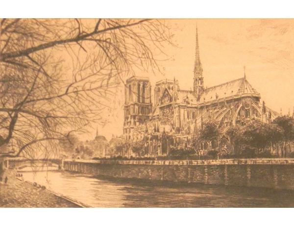 Настенная картина Монастырь на берегу реки, AM1360