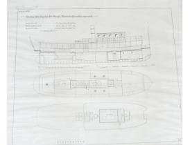 Настенная картина Чертёж судна